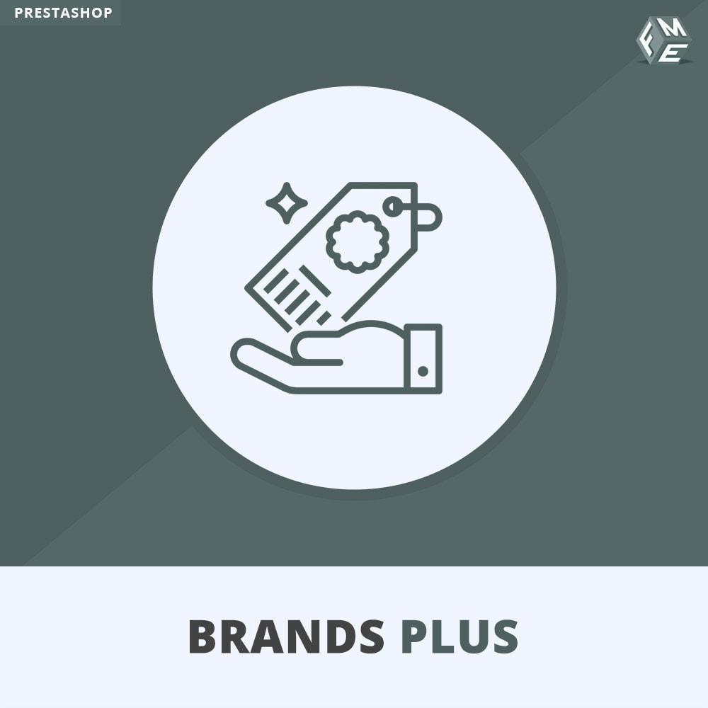 module - Marques & Fabricants - Brands Plus, Marques reactive et Carrousel de Fabricant - 1