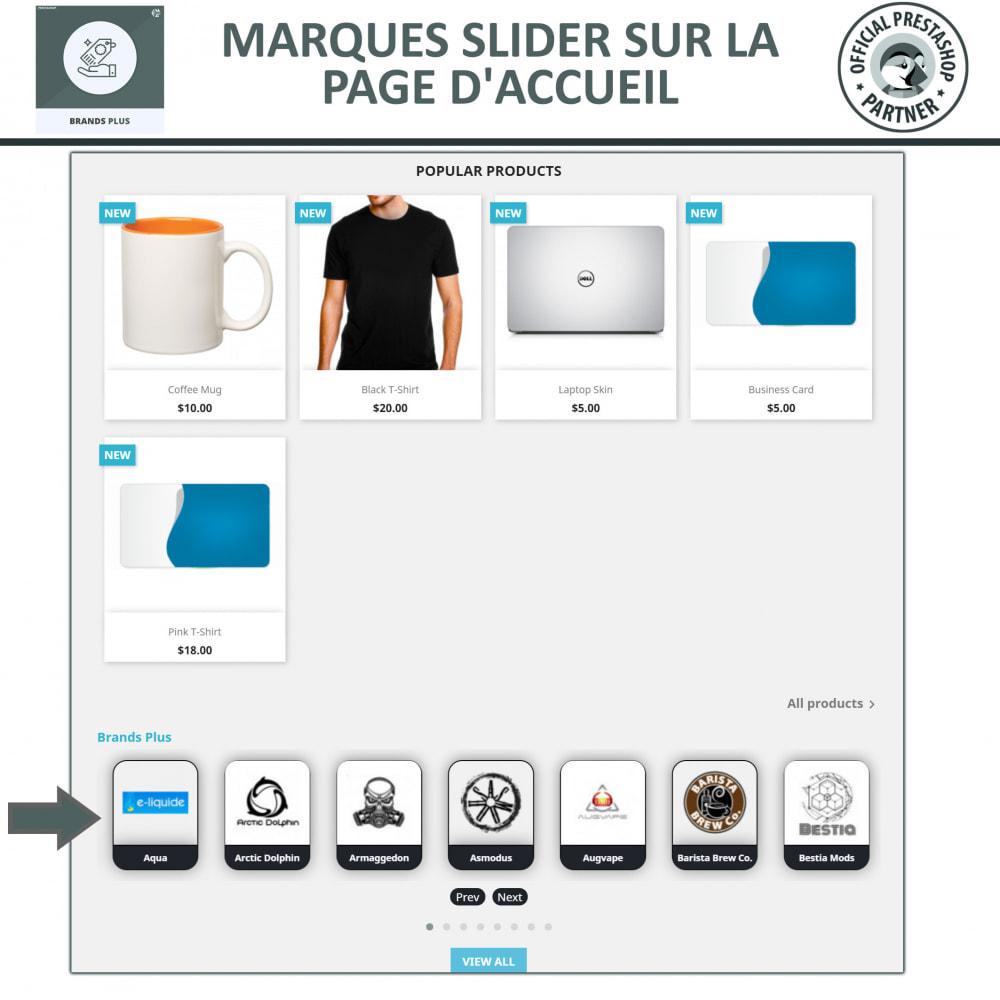 module - Marques & Fabricants - Brands Plus, Marques reactive et Carrousel de Fabricant - 2
