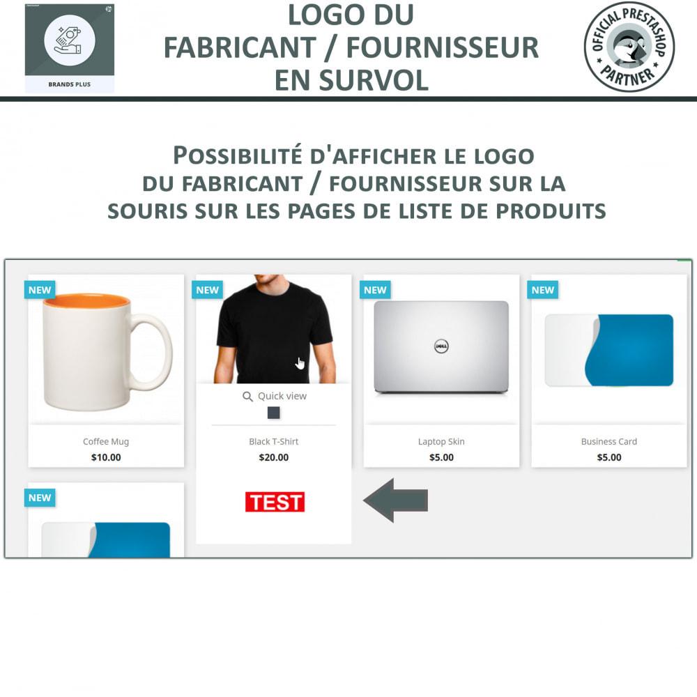 module - Marques & Fabricants - Brands Plus, Marques reactive et Carrousel de Fabricant - 4