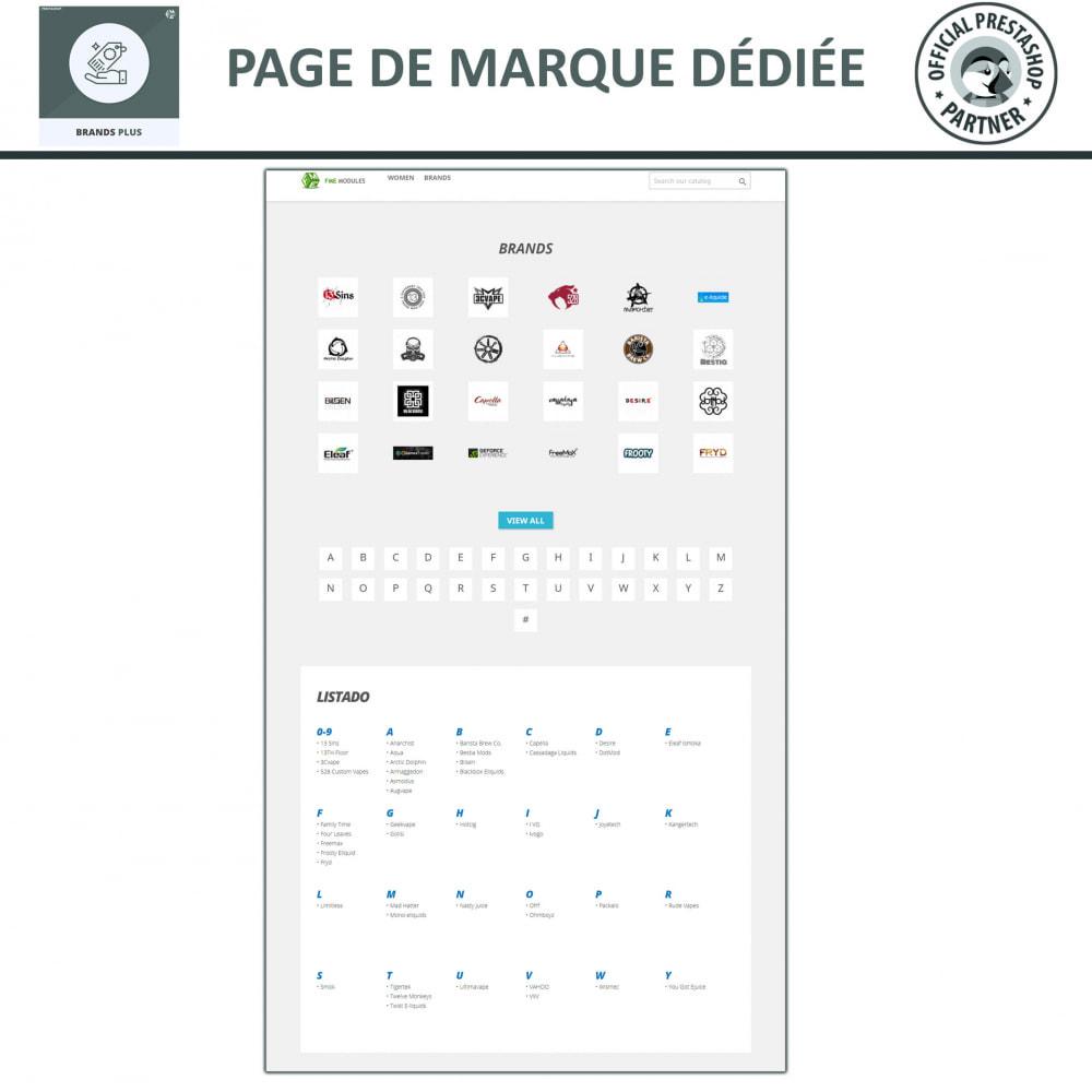 module - Marques & Fabricants - Brands Plus, Marques reactive et Carrousel de Fabricant - 7