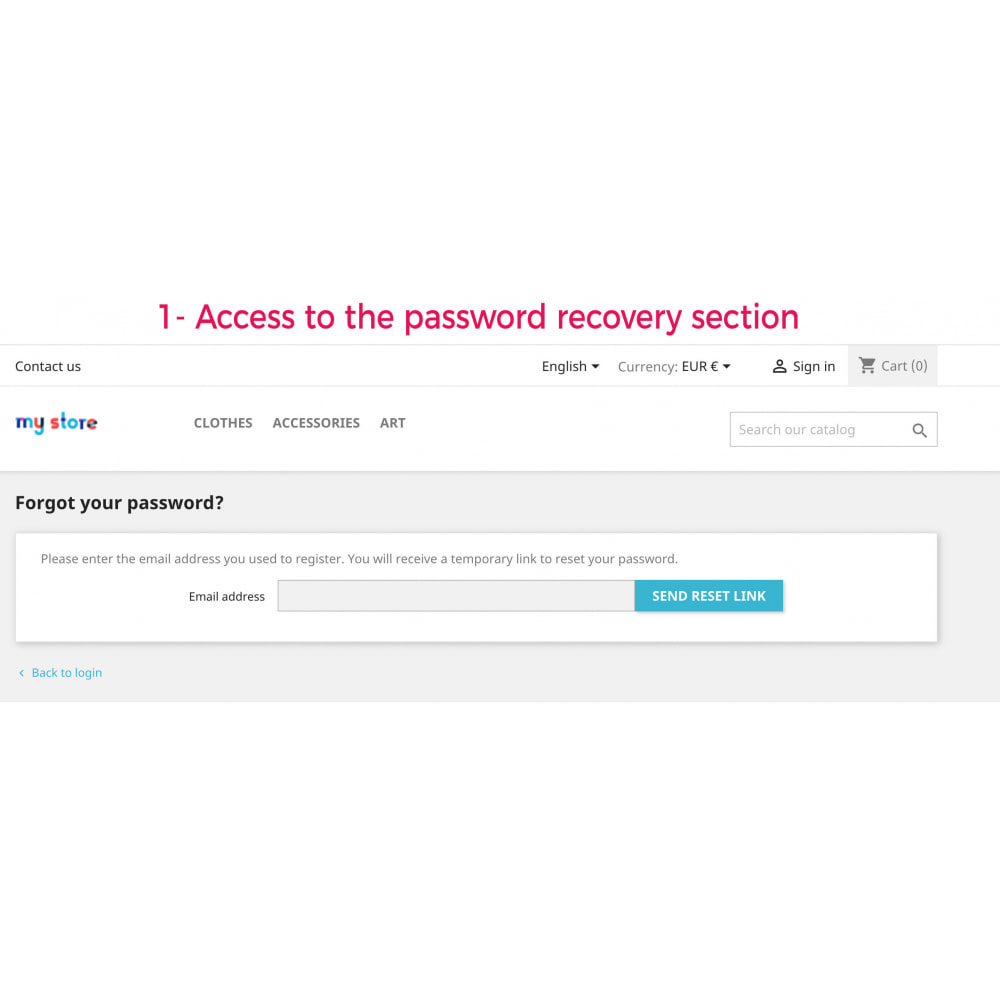 module - Security & Access - Advanced Recovery Password - 2