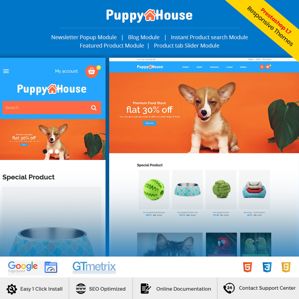 theme - Animaux - Puppy Pet Care - Animal Cat  Nutrition Store - 1