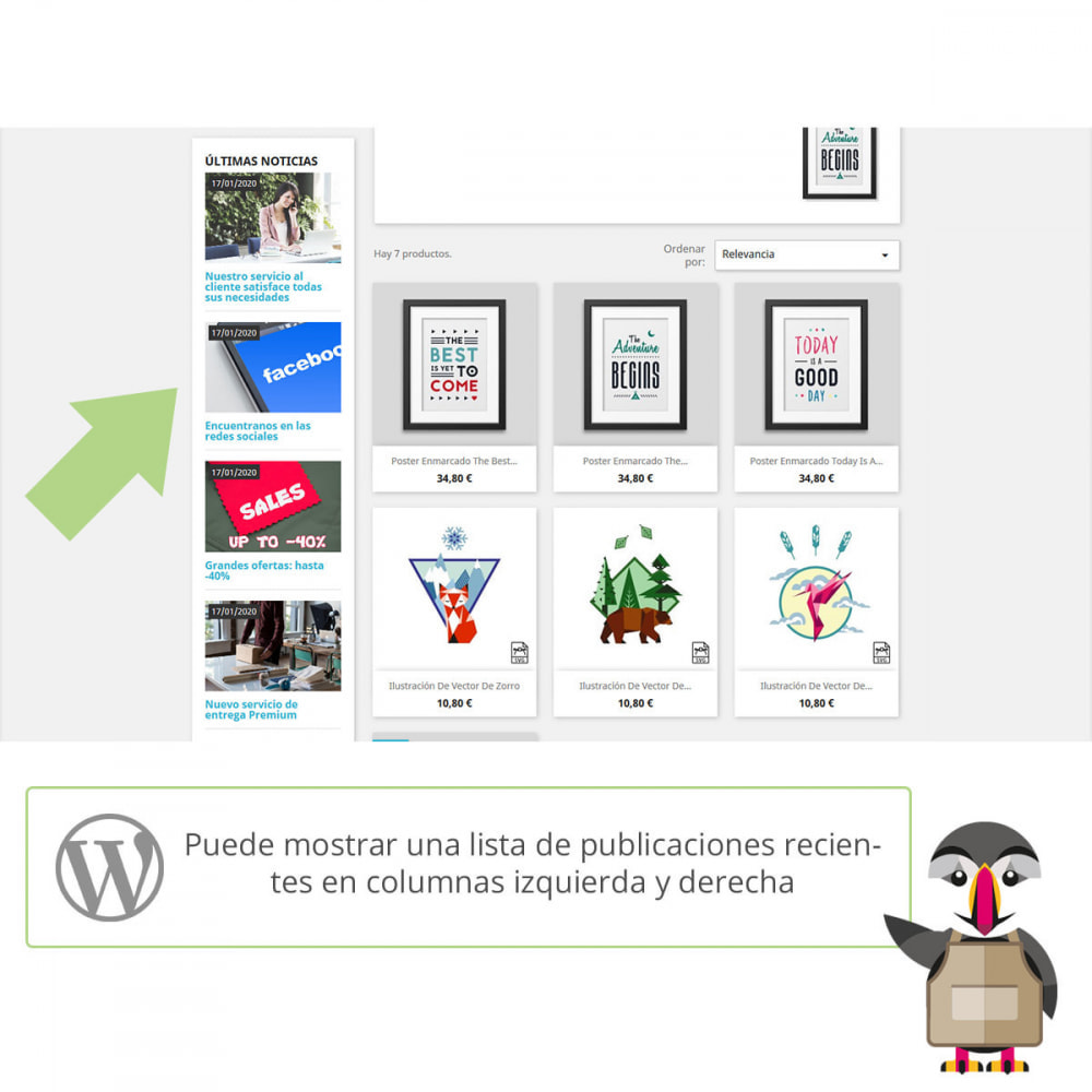 module - Blog, Foro y Noticias - Mis entradas de Wordpress - 2