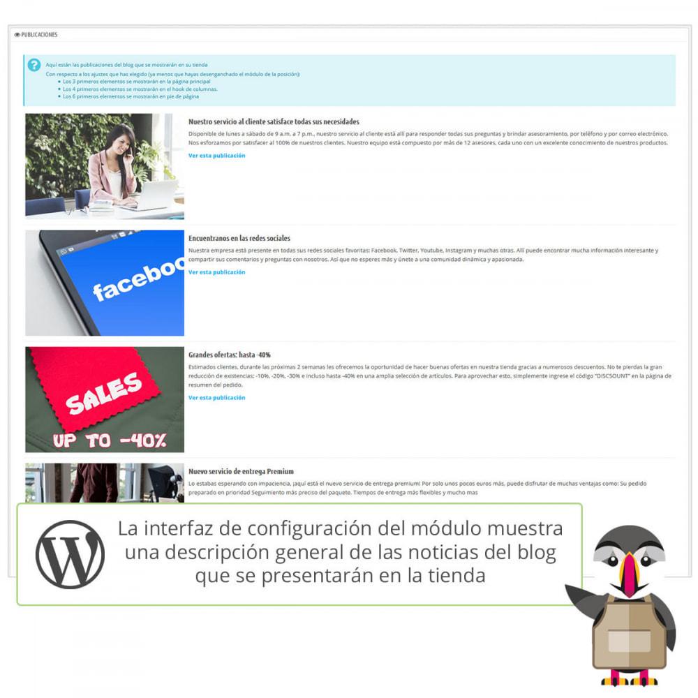 module - Blog, Foro y Noticias - Mis entradas de Wordpress - 6