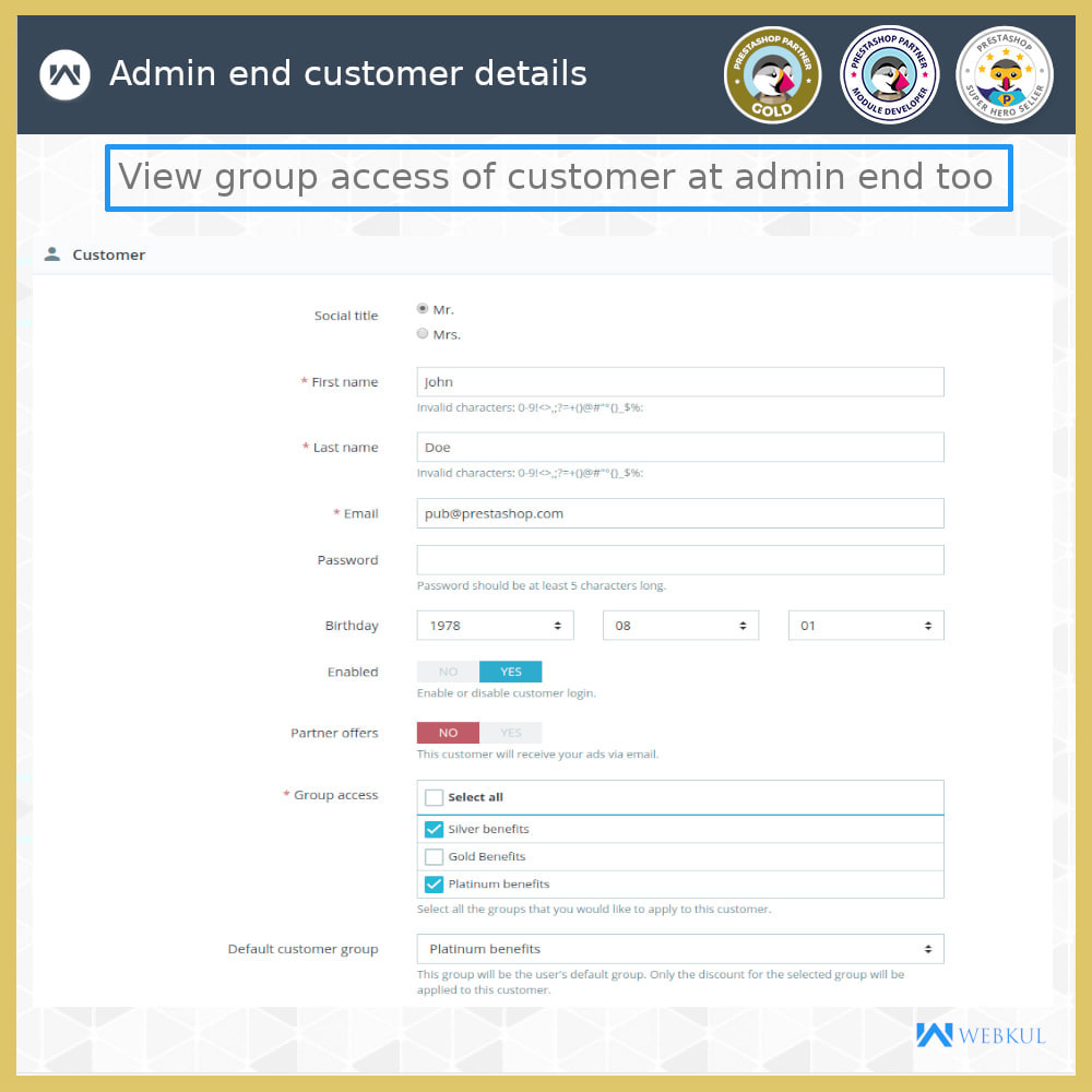 module - Customer Administration - Multi-User Customer Account | B2B Client - 5