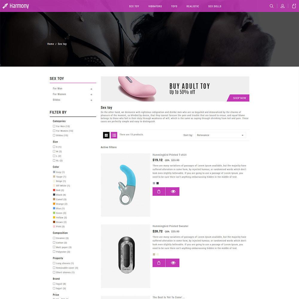 theme - Нижнее белье и товары для взрослых - Massive Adult - магазин нижнего белья, сексуальный - 5