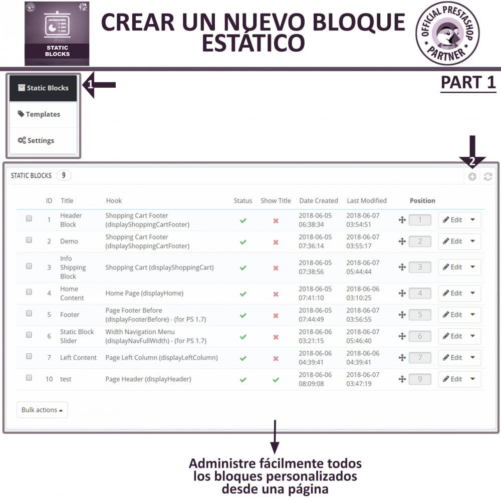 module - Bloques, Pestañas y Banners - Bloques estáticos, Añadir HTML, texto, bloques de medio - 7
