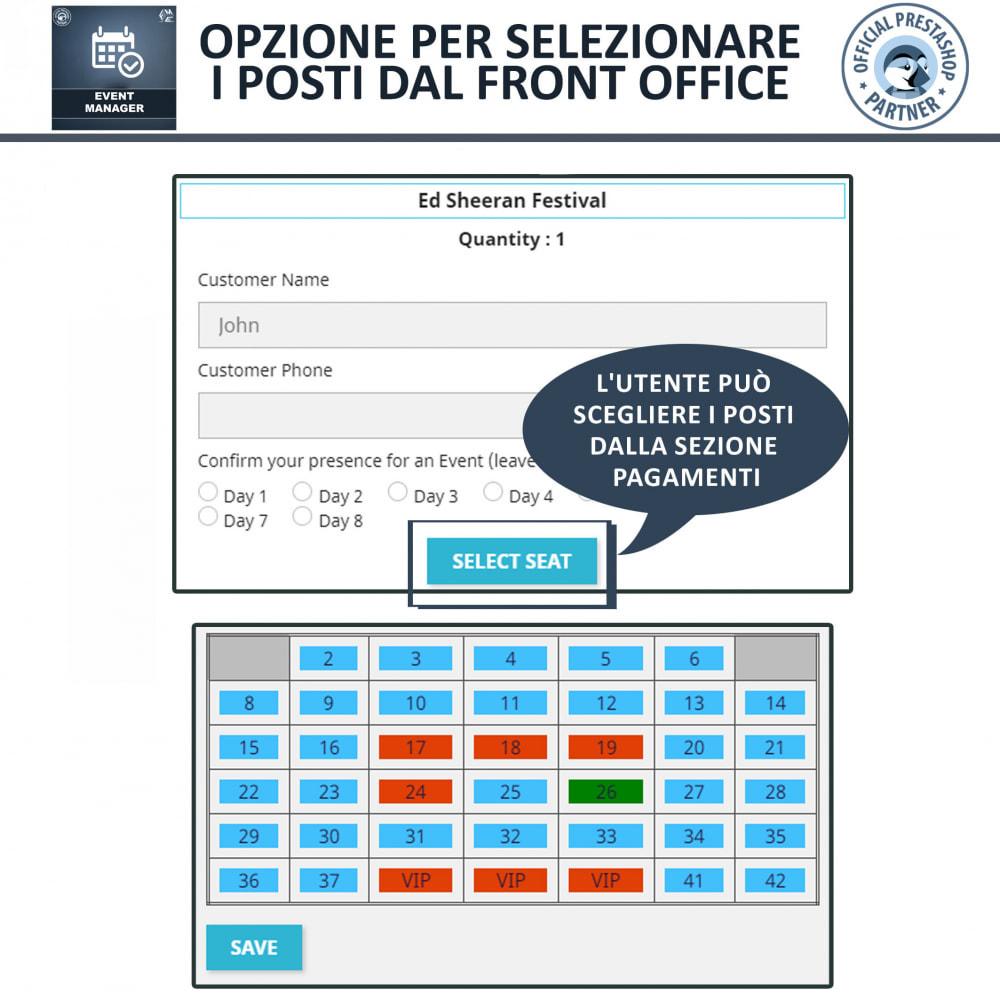 module - Prenotazioni & Noleggi - Manager degli Eventi, Crea Eventi & Vendi biglietti - 6