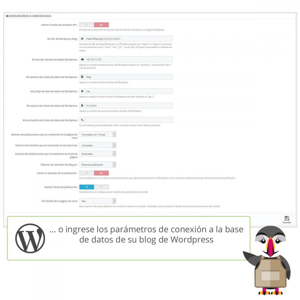 module - Blog, Foro y Noticias - Mis entradas de Wordpress - 5