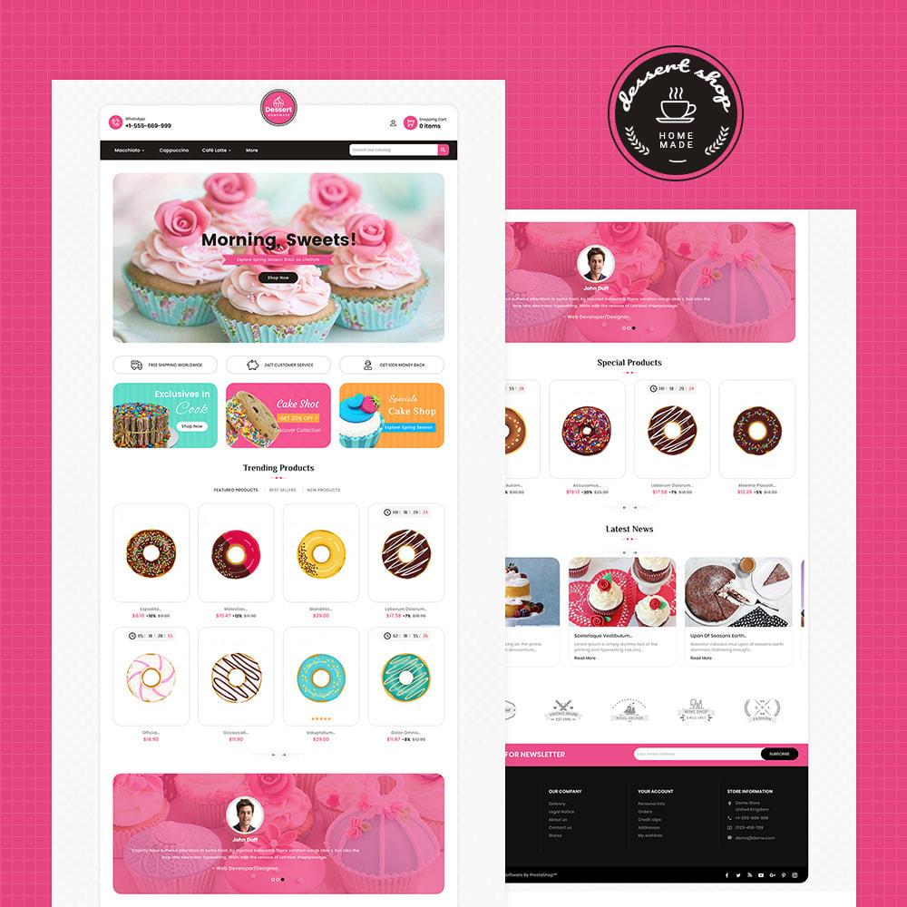 theme - Food & Restaurant - Dessert - Cake & Coffee Store - 3