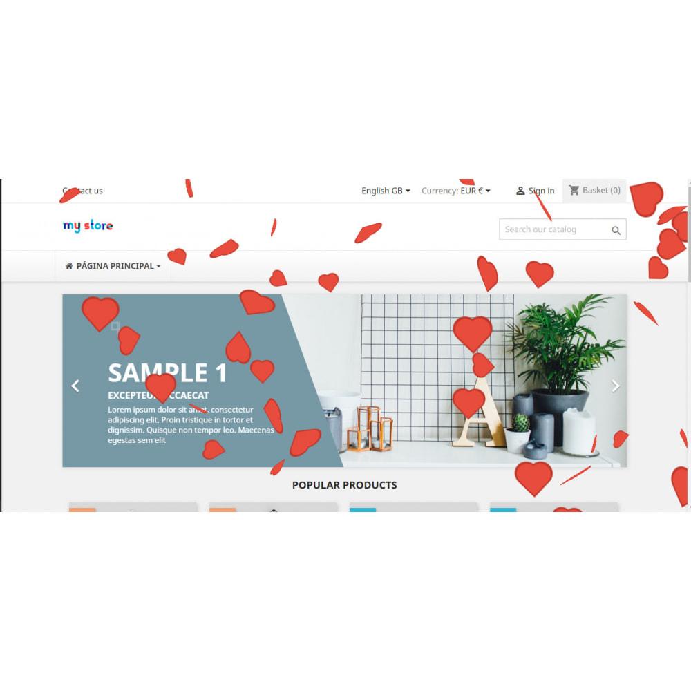 module - Personalización de la página - Efectos personalizados para Navidad, San Valentín, etc - 3