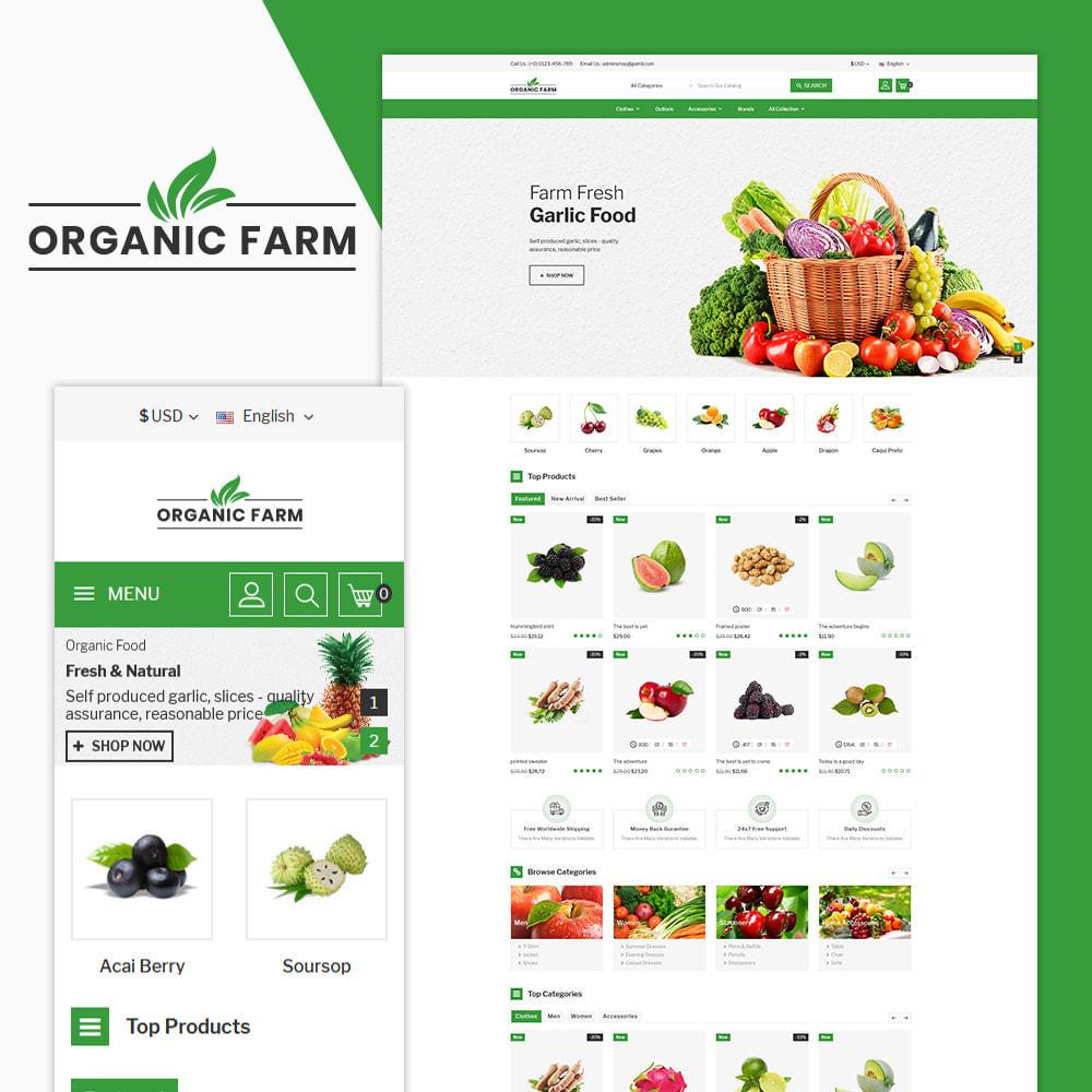 theme - Alimentation & Restauration - Organic Farm & Vegetable Store - 1