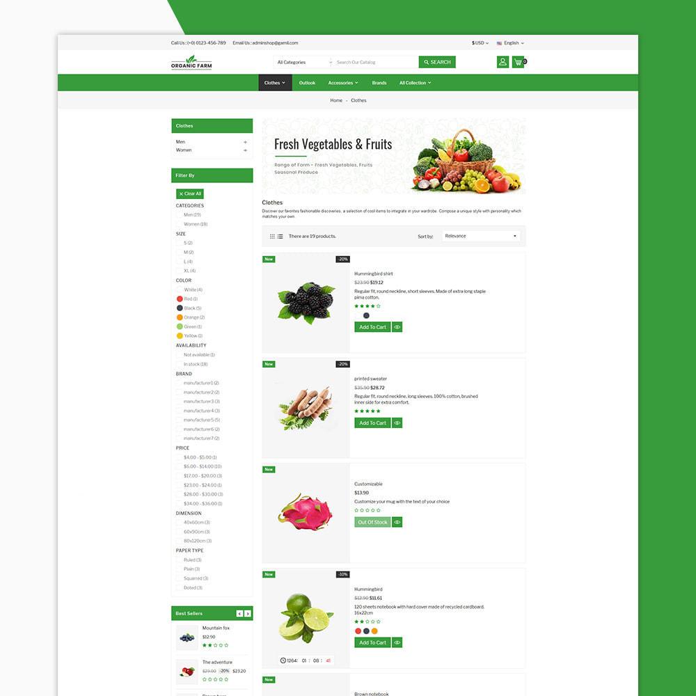 theme - Alimentation & Restauration - Organic Farm & Vegetable Store - 4