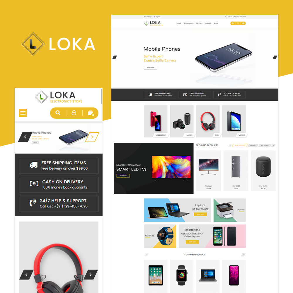 theme - Electronics & Computers - Loka Electronic Store - 1