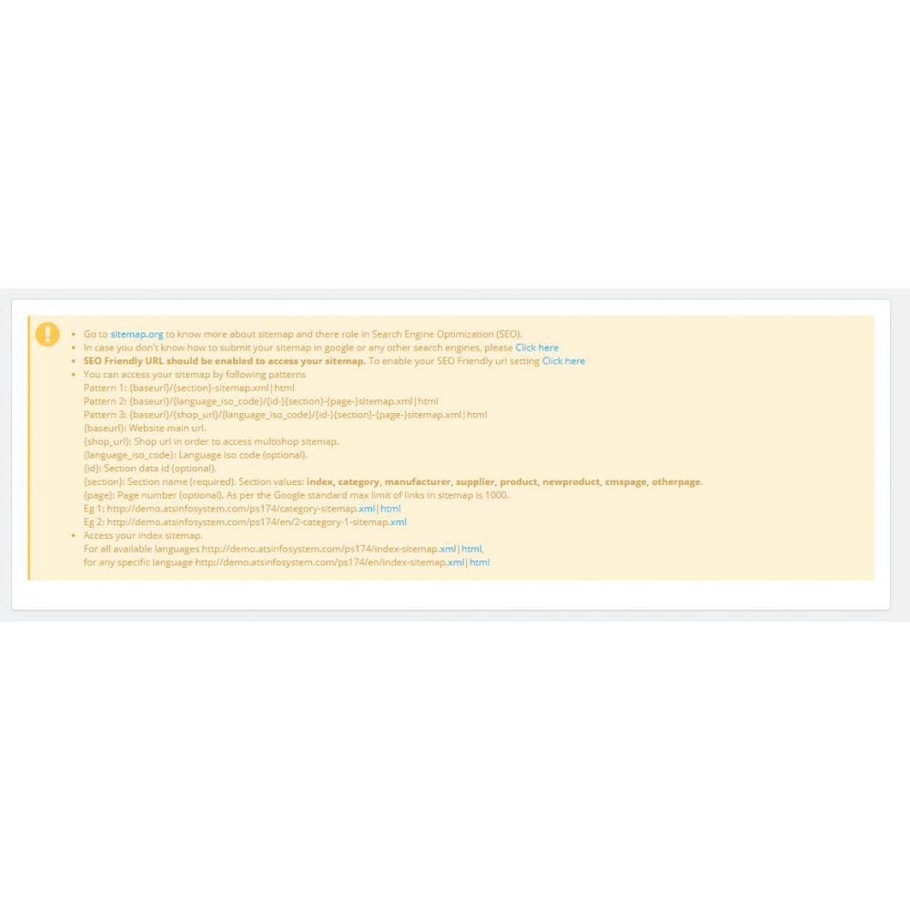 module - SEO (Indicizzazione naturale) - Advance Google SEO (XML & HTML) Sitemap Generator - 1