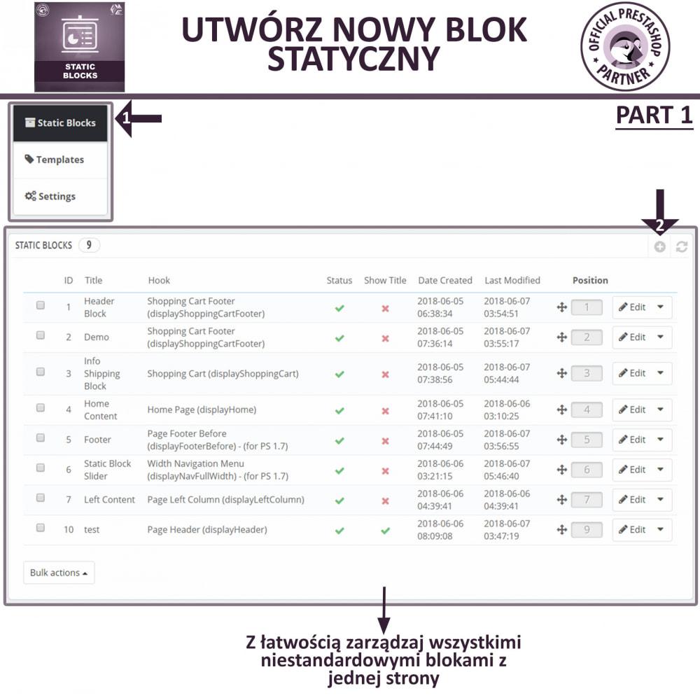 module - Bloki, Zakładki & Banery - Bloków Statycznych - 6