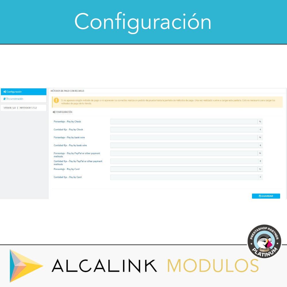 module - Pago con Tarjeta o Carteras digitales - Métodos de pago con recargo - Compatible PS Checkout - 3