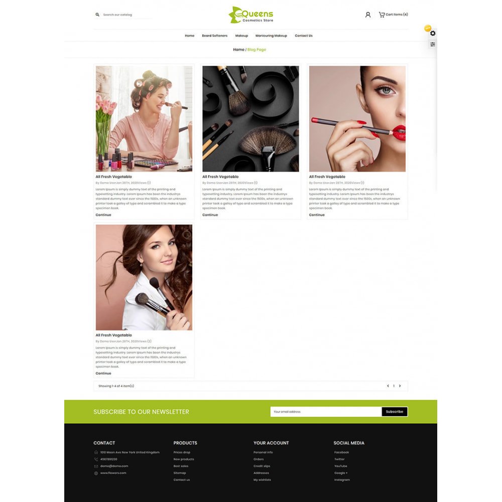 theme - Health & Beauty - Queens Cosmetic Shop - 7
