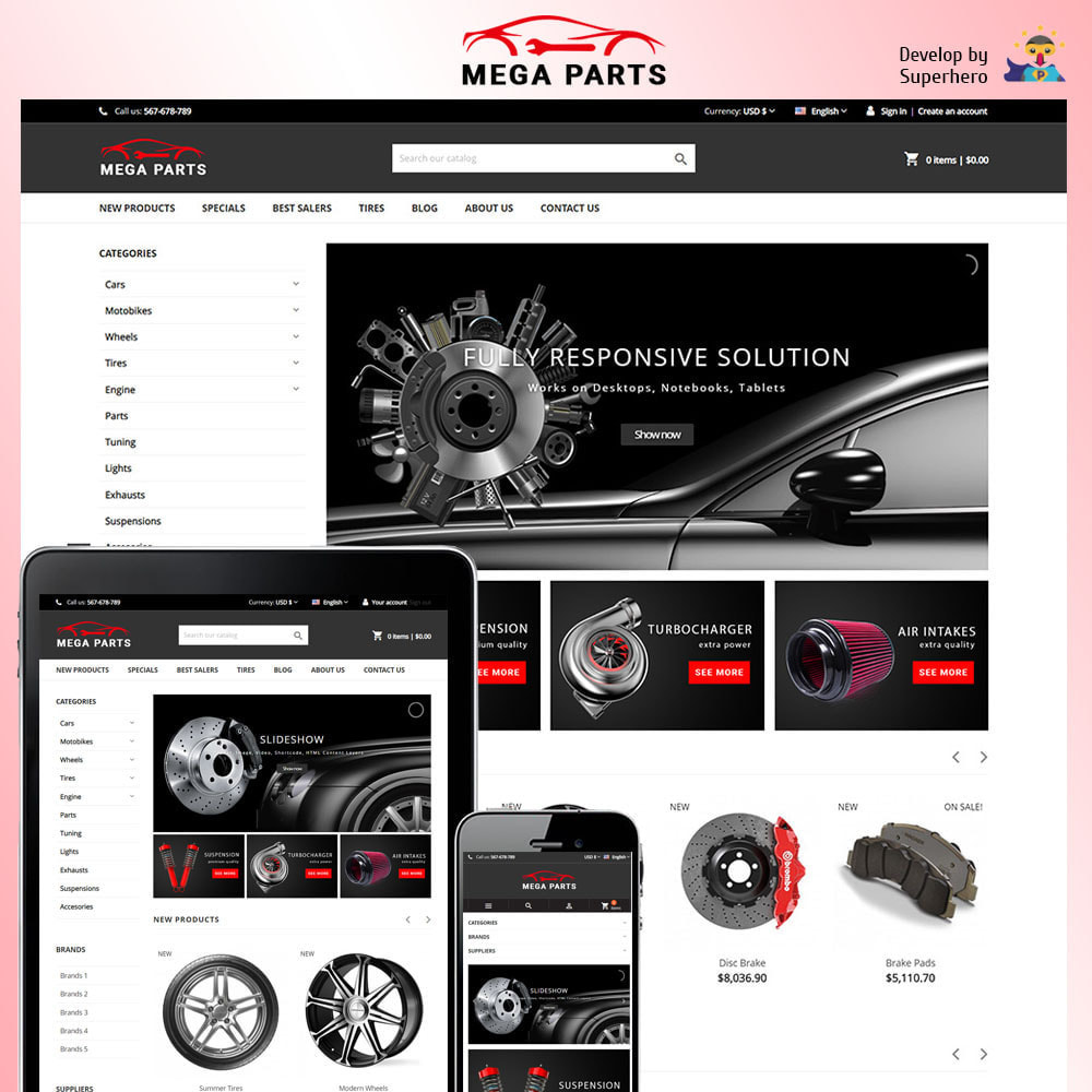 theme - Automotive & Cars - Mega Parts Store - 1