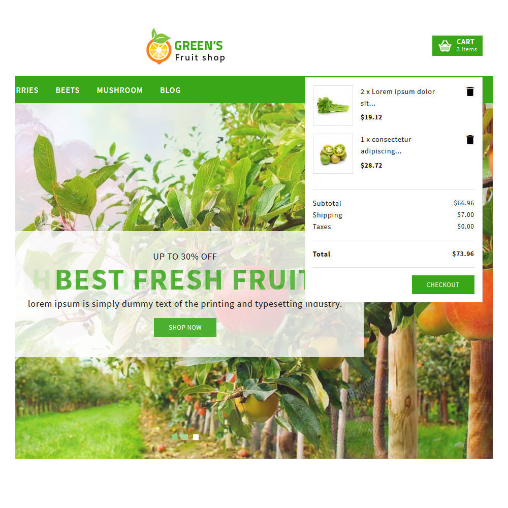 theme - Food & Restaurant - Green Vegetable & Fruits Shop - 7
