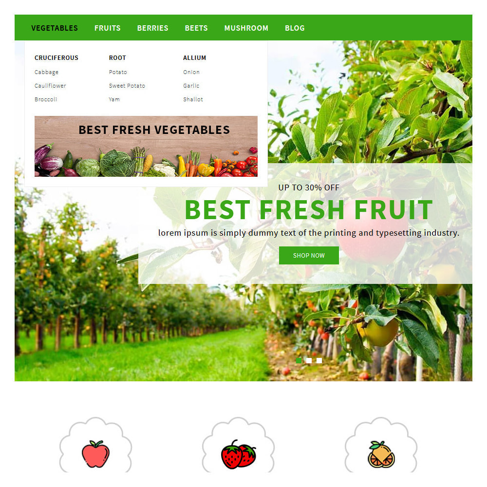 theme - Food & Restaurant - Green Vegetable & Fruits Shop - 9