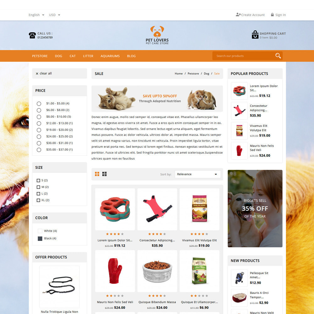 theme - Tier - Petlovers Animals & Pet Shop - 3