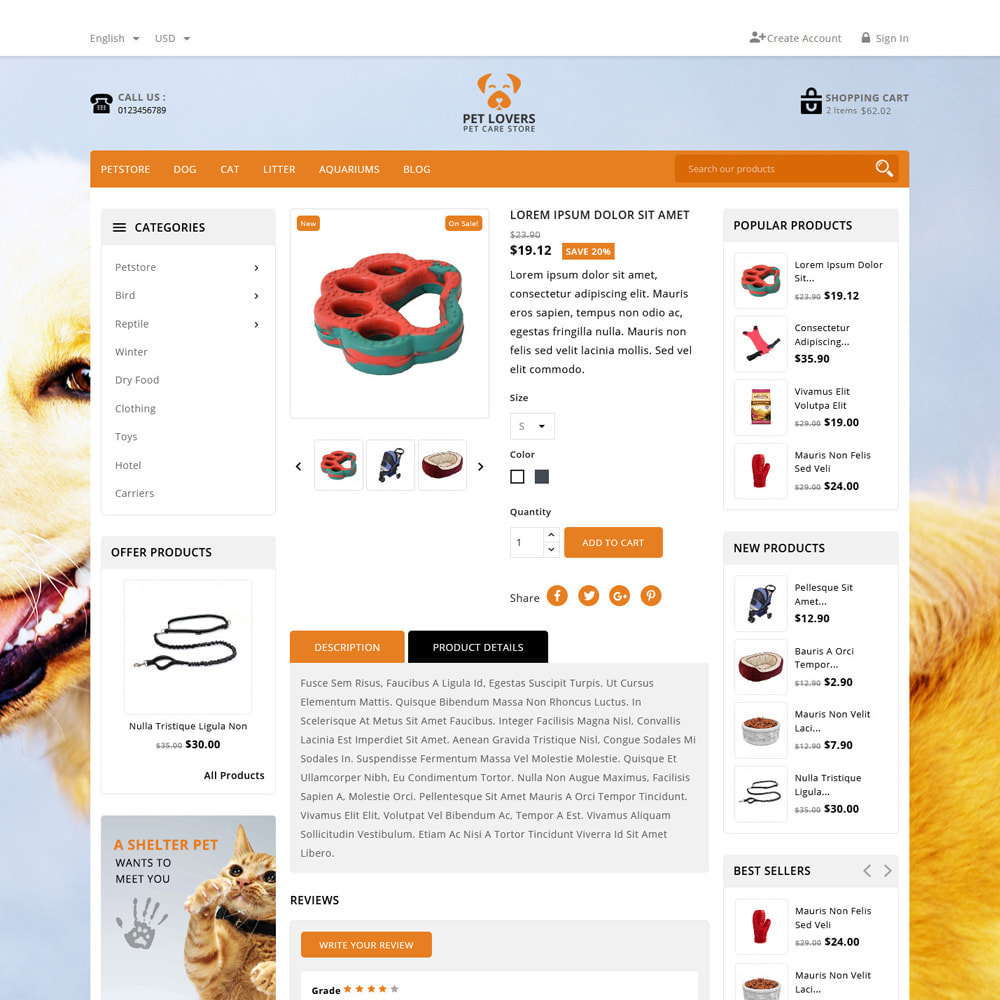 theme - Animais - Petlovers Animals & Pet Shop - 5
