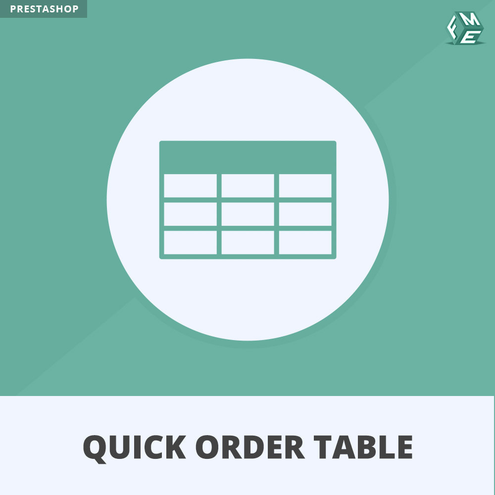 module - Gerenciamento de pedidos - Quick Order Table - 1