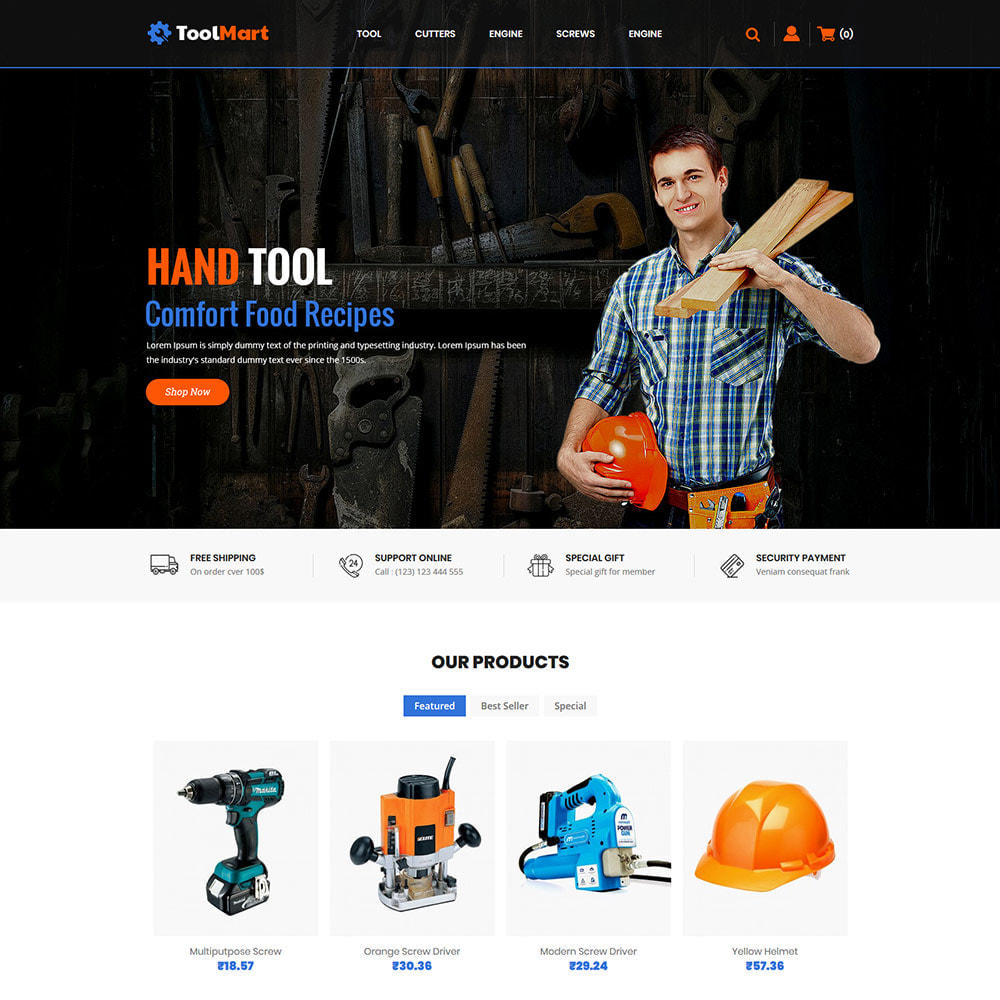 theme - Automotive & Cars - Tool Auto - Car Motor Spare Store - 2