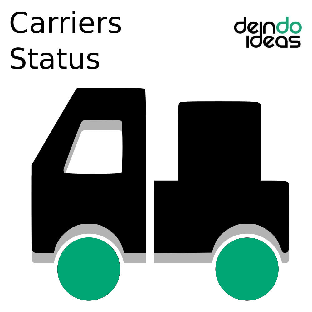 module - Shipping Carriers - Carriers Status - 1