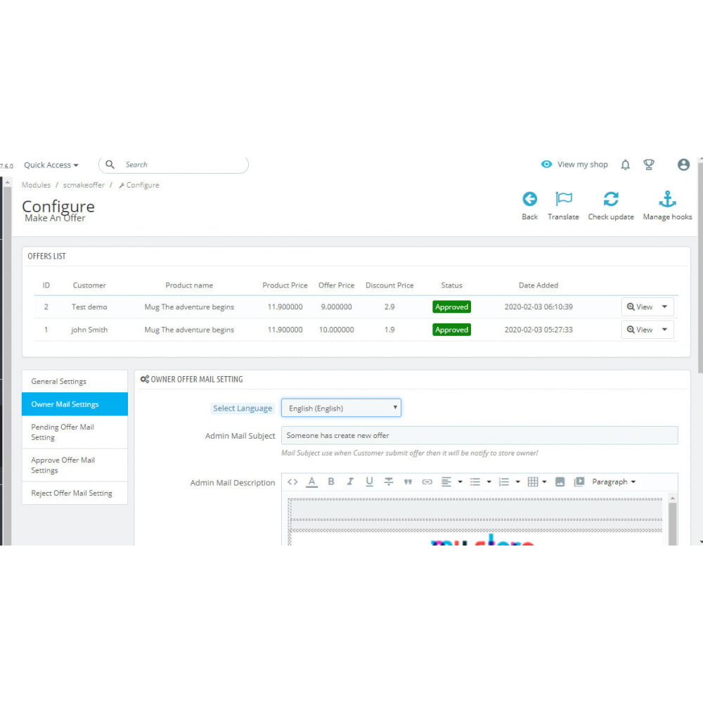 module - Promociones y Regalos - Make An Offer - 4