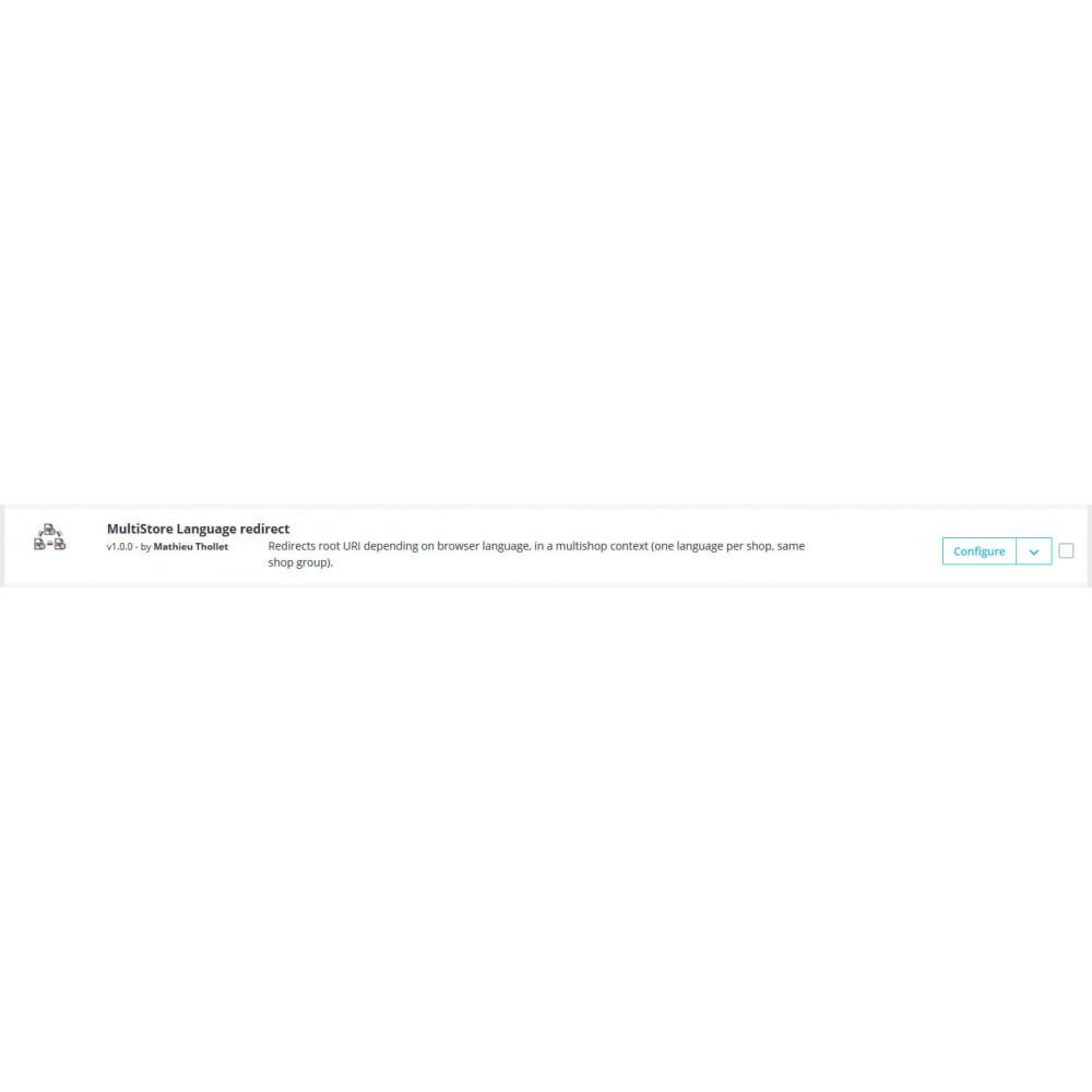 module - Internacional & Localização - Redirecionamento de idioma - Multi shop - 1