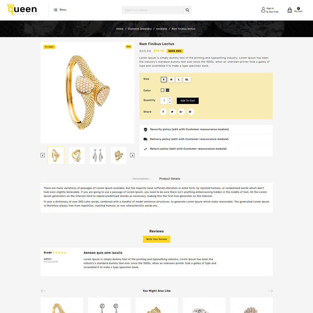 theme - Jewelry & Accessories - Queen jewellery Shop - 4
