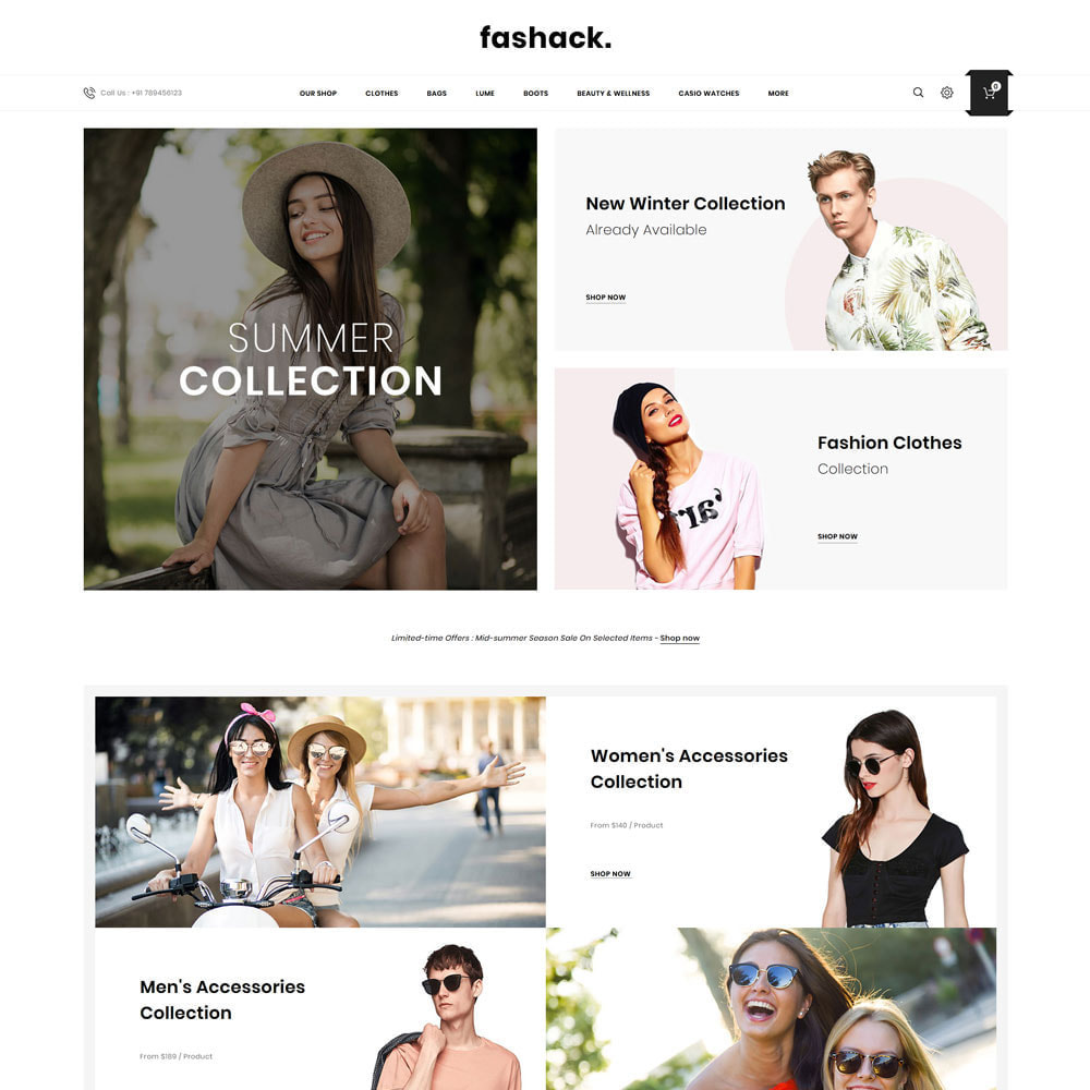 theme - Mode & Chaussures - Fashack - Le magasin de mode - 4