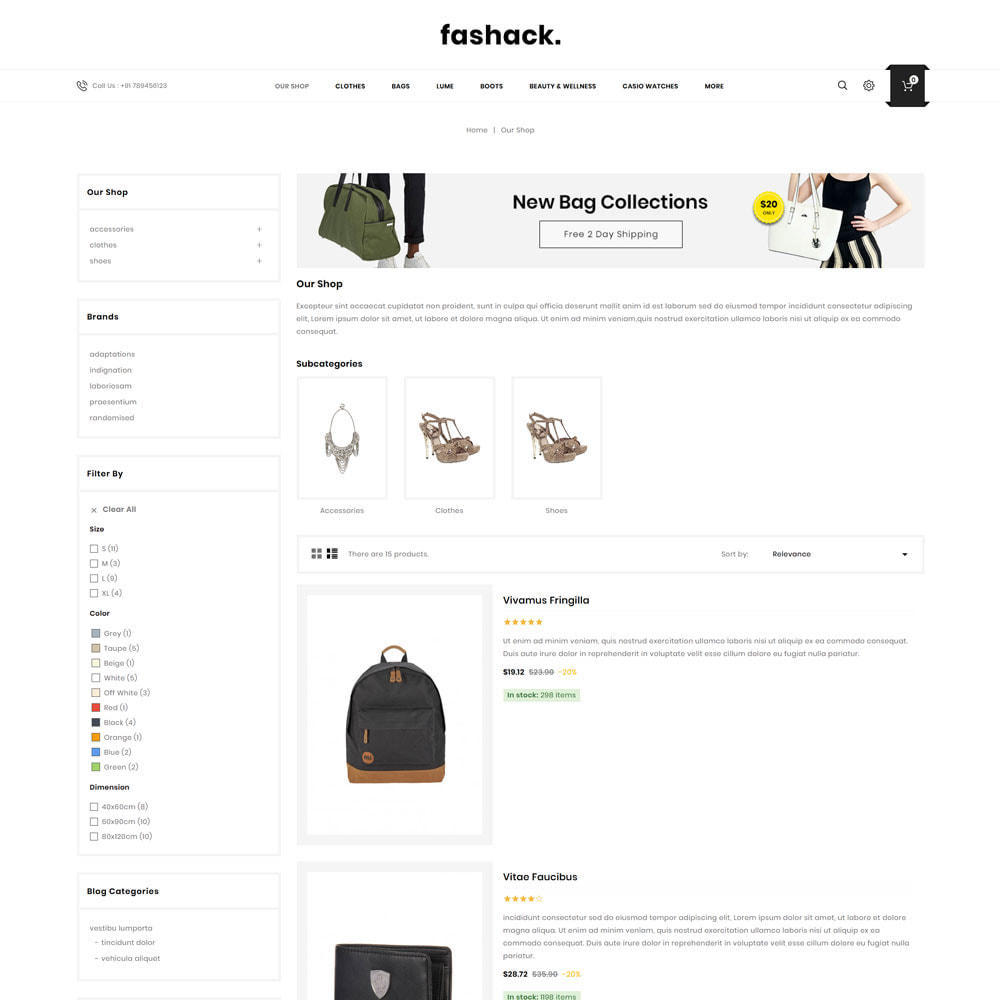 theme - Mode & Chaussures - Fashack - Le magasin de mode - 6