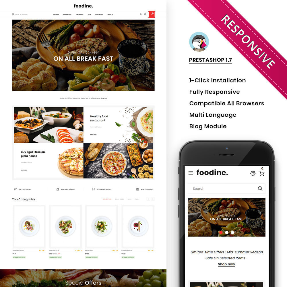 theme - Alimentation & Restauration - Foodine - Le magasin d'alimentation Mega - 2