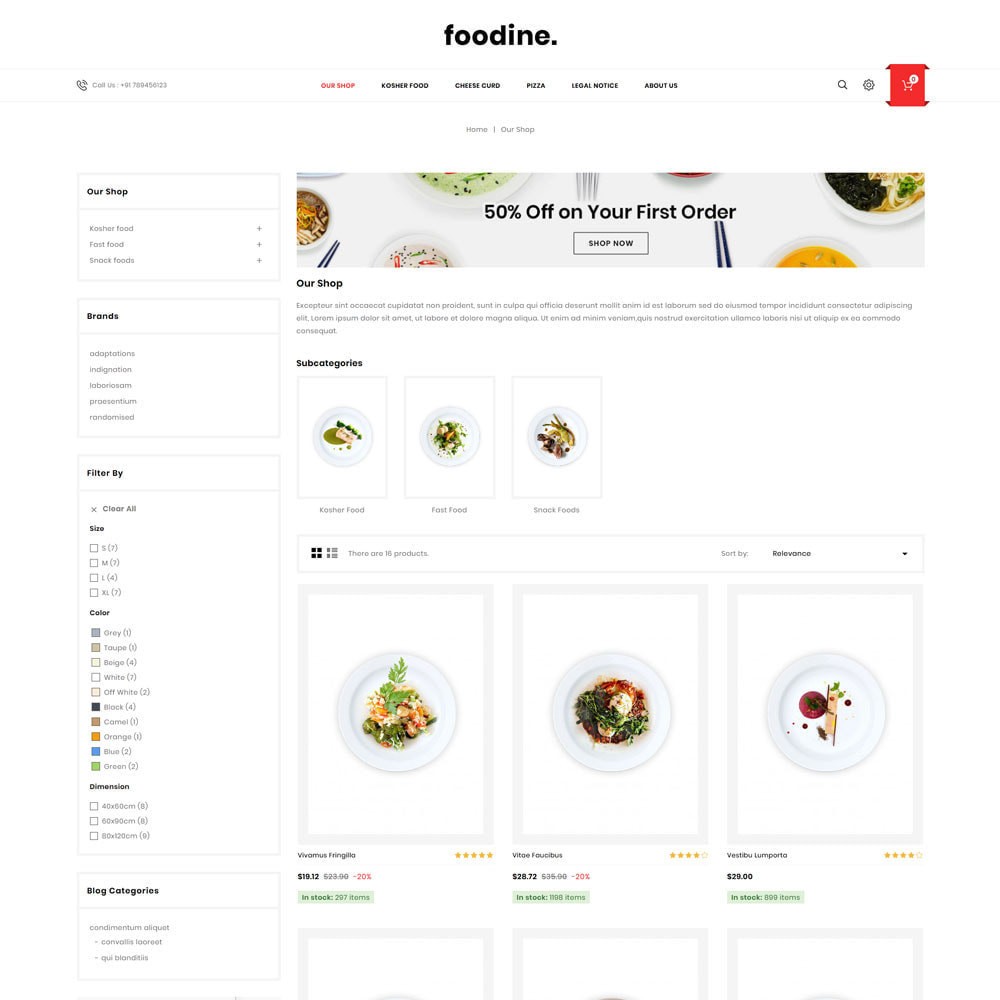 theme - Alimentation & Restauration - Foodine - Le magasin d'alimentation Mega - 5