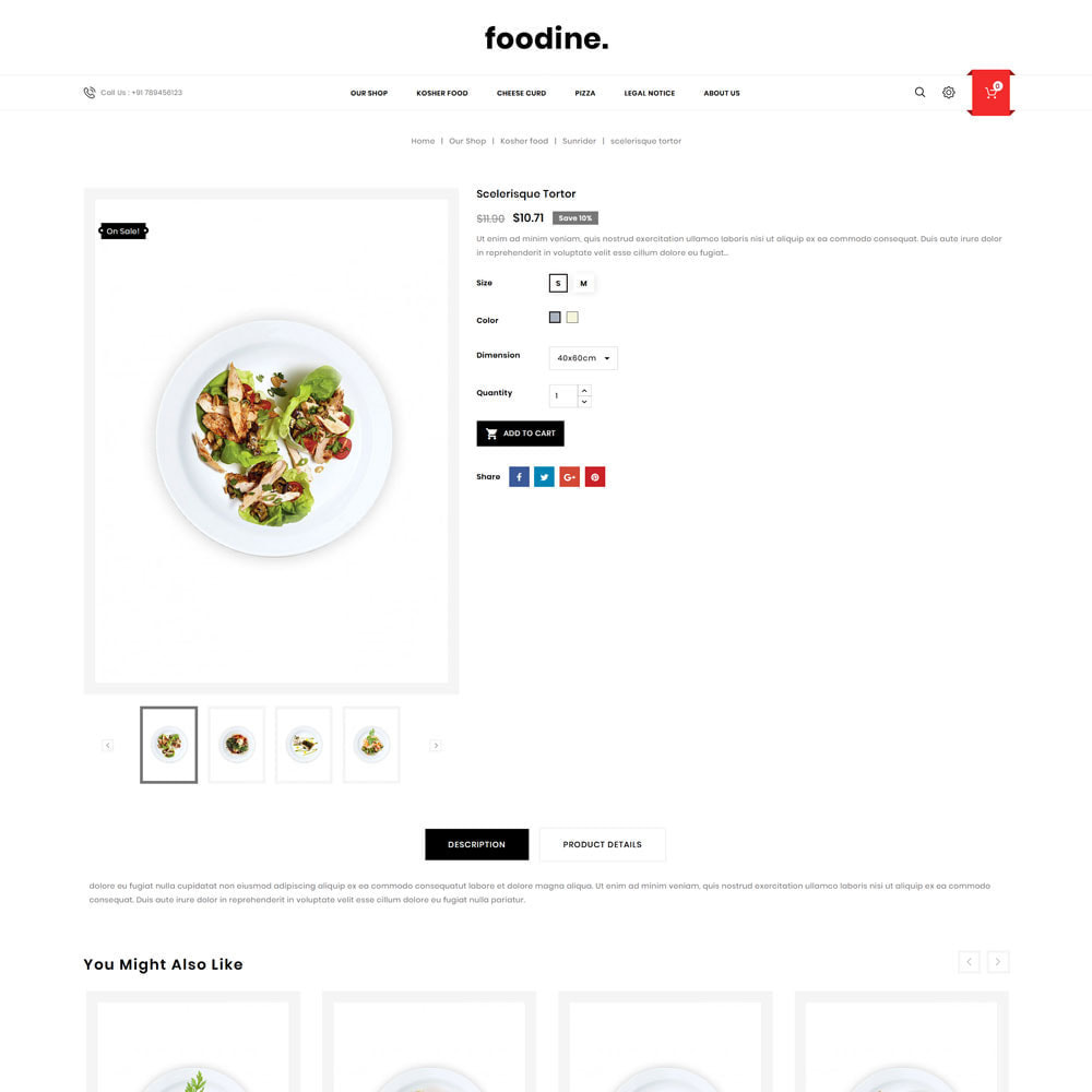 theme - Alimentation & Restauration - Foodine - Le magasin d'alimentation Mega - 7