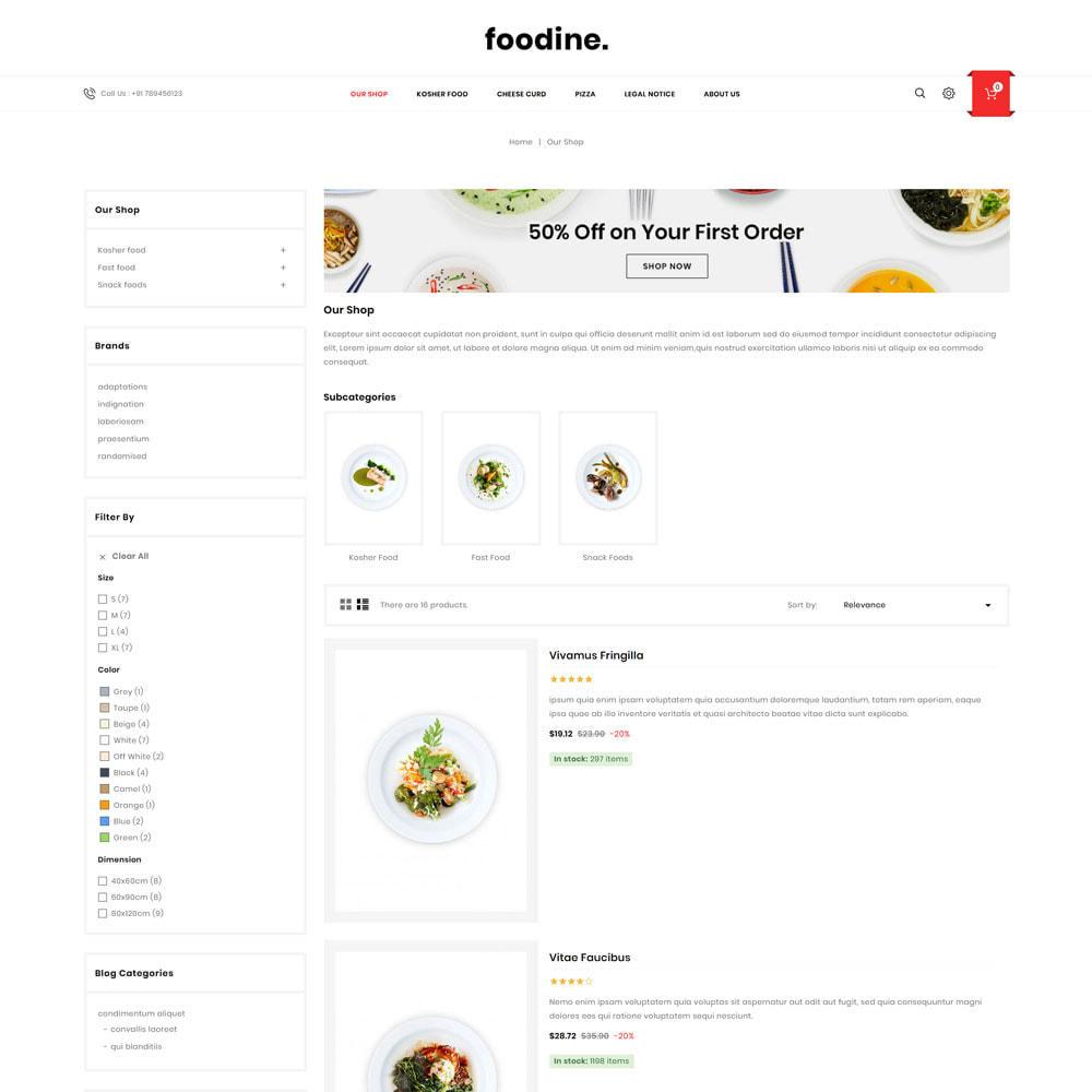 theme - Gastronomía y Restauración - Foodine - La tienda Mega Food - 6