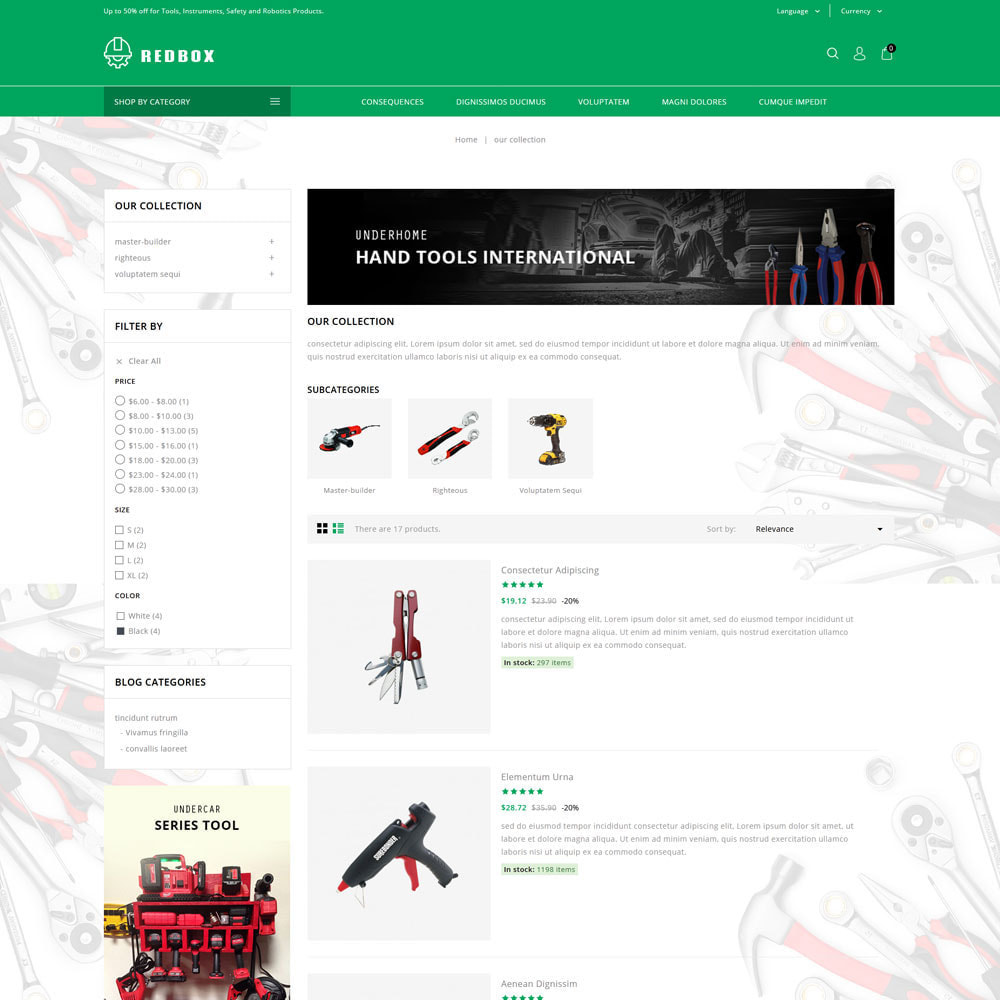 theme - Automotive & Cars - Redbox - The Tool Store - 5