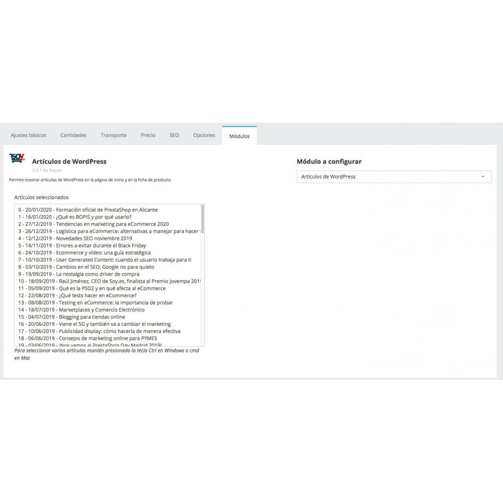 module - Blog, Foro y Noticias - Artículos de WordPress - 3