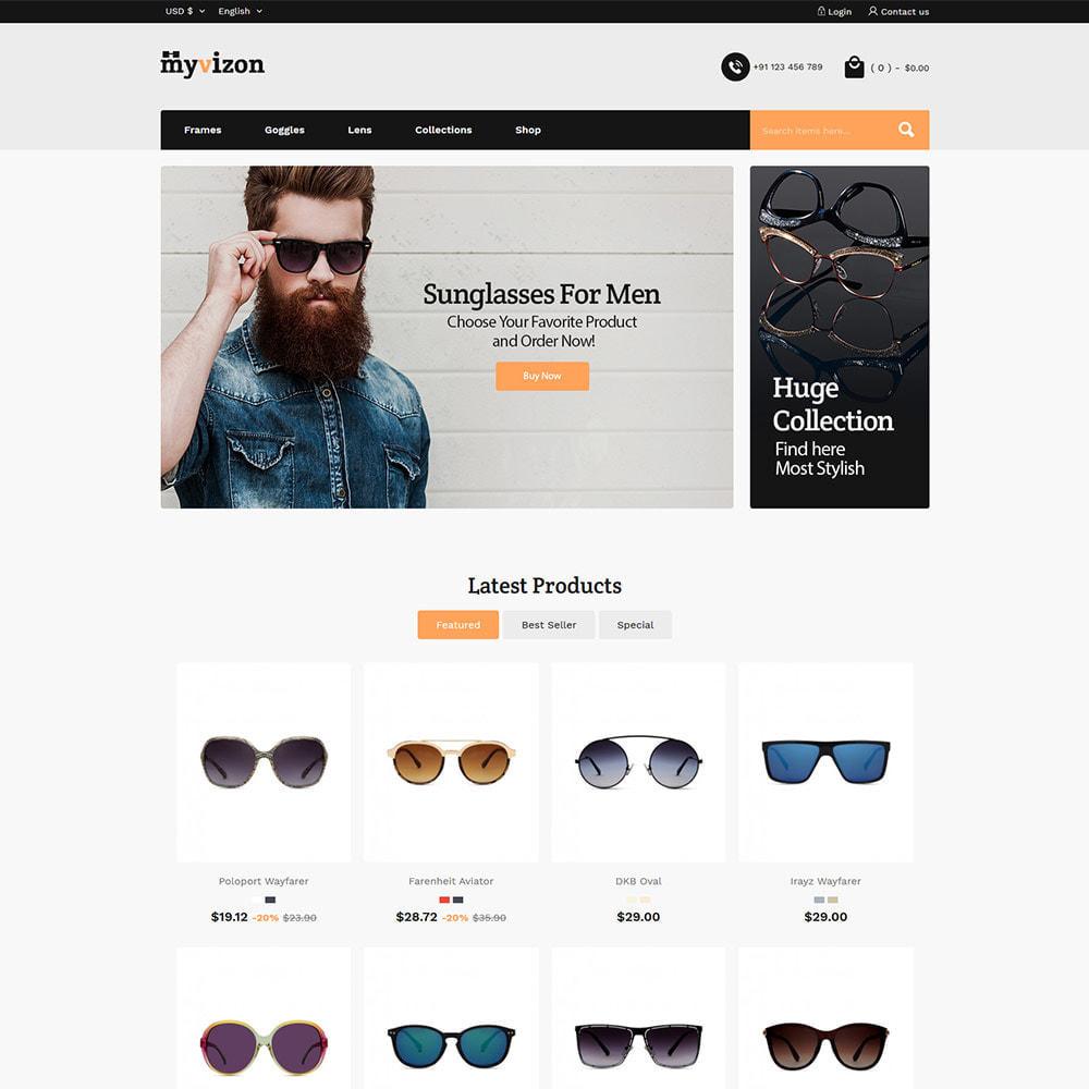 theme - Fashion & Shoes - Eye Sunglasses - Lens  Frame Glass Store - 2