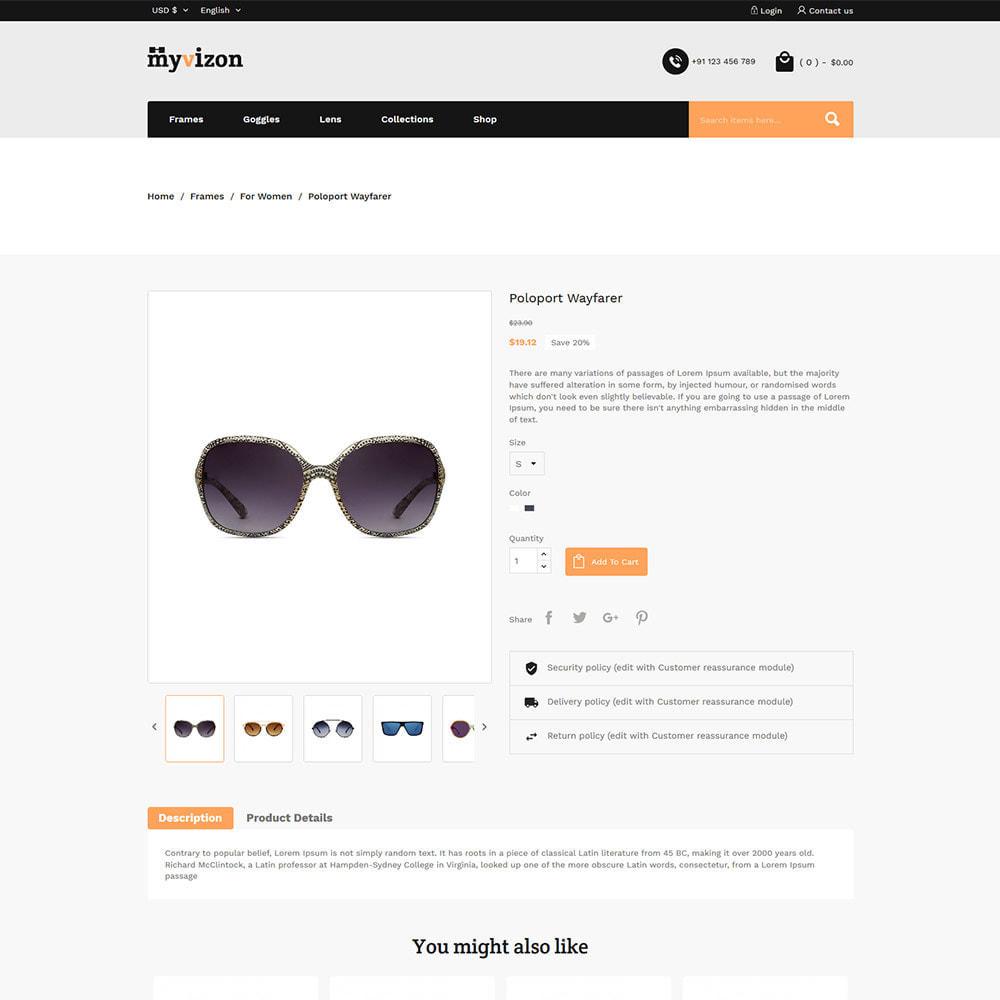 theme - Fashion & Shoes - Eye Sunglasses - Lens  Frame Glass Store - 5