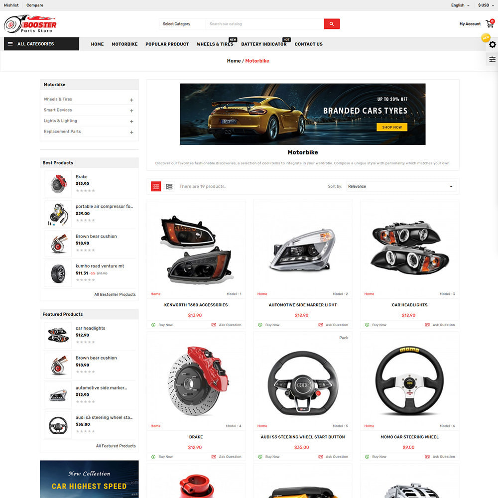 theme - Automotive & Cars - Booster Autopart Store - 2