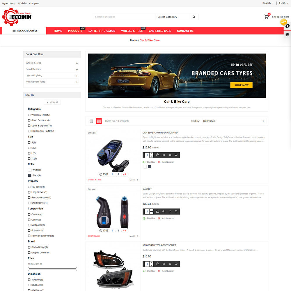 theme - Automotive & Cars - Autopart - Eccom Store - 3