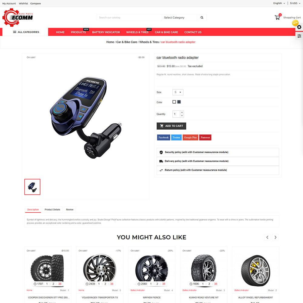 theme - Automotive & Cars - Autopart - Eccom Store - 4