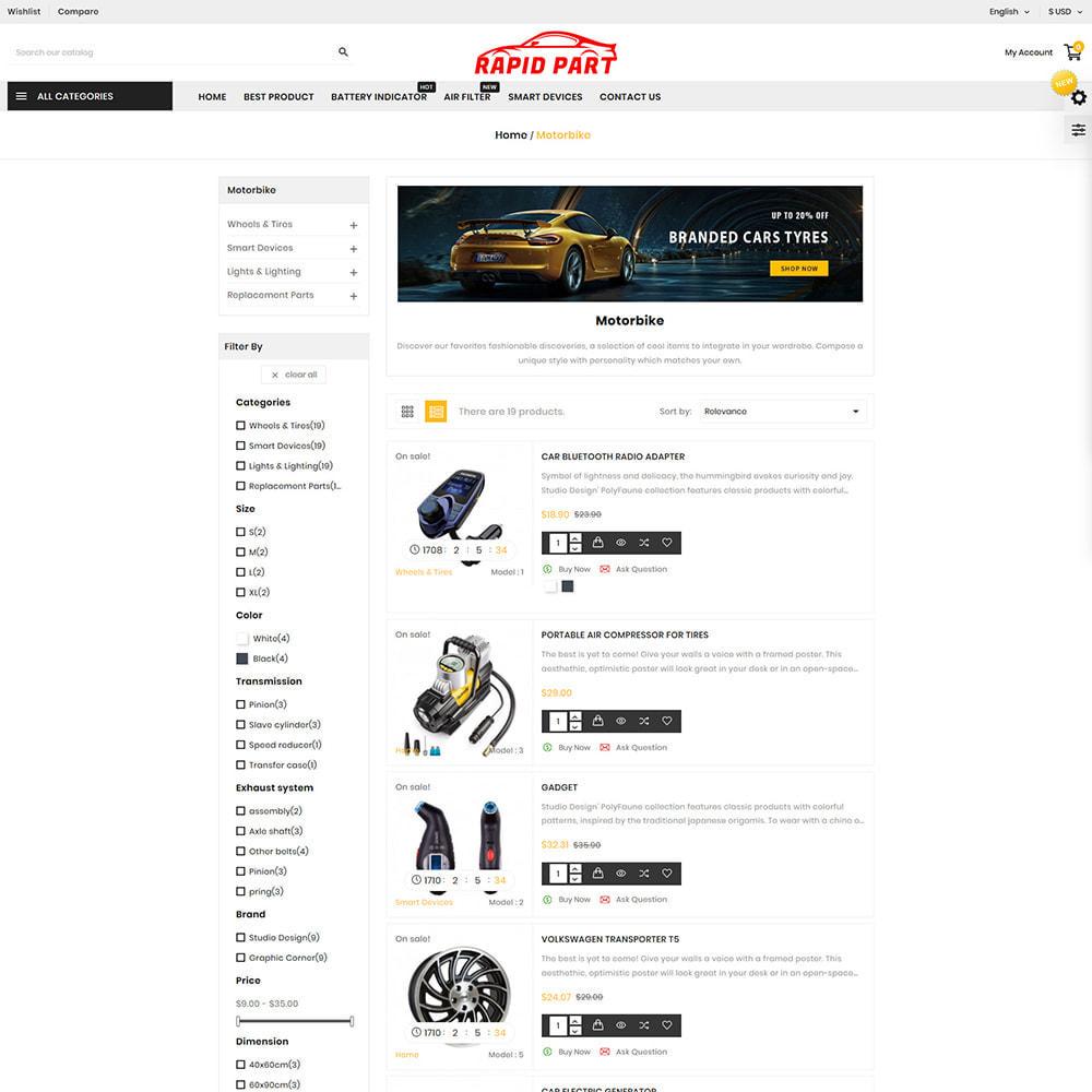 theme - Automotive & Cars - Rapid AutoPart Store - 3