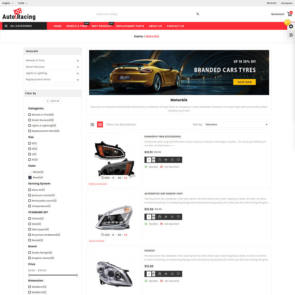 theme - Coches y Motos - Auto-Racing AutoPart Store - 4