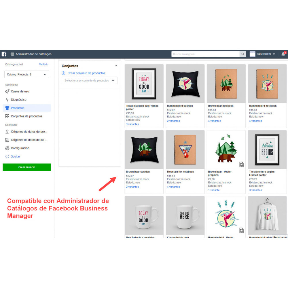 module - Productos en Facebook & redes sociales - Importador de Catálogo a Tienda Redes Sociales - 5