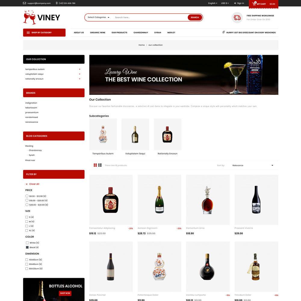 theme - Alimentation & Restauration - Viney - La Mega Wine Shop - 4